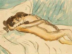 Акварель Пабло Пикассо, где художник изобразил себя в объятиях любовницы, продана за $160 тысяч