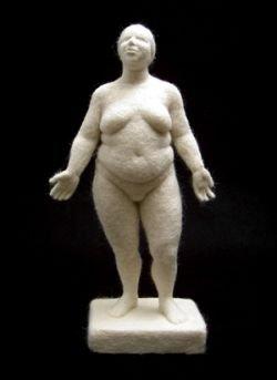 Скульптуры из шерсти (фото)