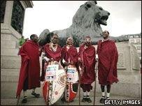 Масаи примут участие в Лондонском марафоне