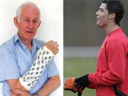 Криштиану Роналду мячом сломал запястье английскому пенсионеру