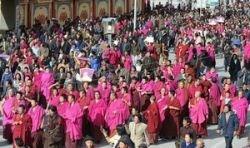 В Непале прошла массовая акция протеста тибетцев