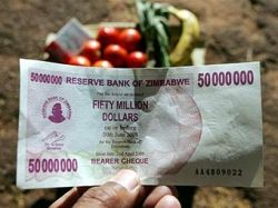 Инфляция в Зимбабве достигла 165 тысяч процентов в год