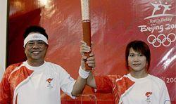 Олимпийский огонь прилетел в Бангкок