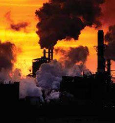 Около 40% всех парниковых газов выбрасывается промышленностью США