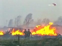 Лесные пожары из России перекинулись на Монголию