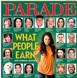 Журнал Parade составил список звездных заработков за 2007 год