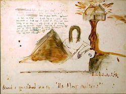В Париже открылась выставка картин Пита Догерти, написанных кровью