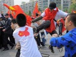 Китайцы устроили беспорядки на этапе олимпийской эстафеты в Сеуле