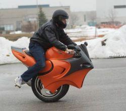Uno – самодельный одноколесный мотоцикл-гибрид (фото)
