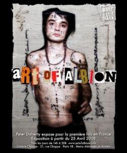 Art of Albion - выставка картин Пита Доэрти, написанных кровью (фото)