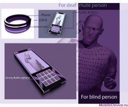Концепт мобильного телефона для слепых и глухонемых людей