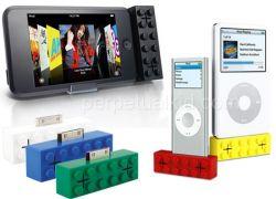 Колонки для iPod'ов в виде блоков Lego
