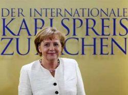 Ангела Меркель получила премию Карла Великого