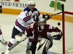 Сборная США забросила в ворота Латвии четыре безответные шайбы