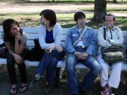 Питерские секс-меньшинства провели коллективный одиночный пикет