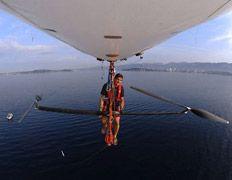 Французский пилот готовит педальный дирижабль к штурму Ла-Манша