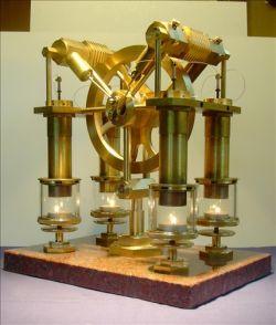 Двигатель, работающий от энергии свечи (видео)