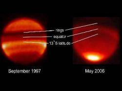 В атмосфере Сатурна нашли колебания с пятнадцатилетним периодом