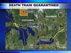 Канадский поезд встал на карантин после смерти пассажирки