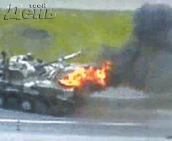 В Москве после парада Победы взорвалась боевая бронемашина десанта (фото)