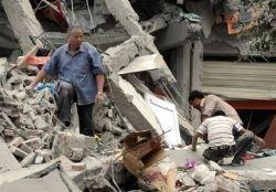Очевидец снял на видео землетрясение в Китае (видео)