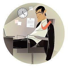 Скучная работа укорачивает жизнь человека