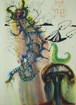 Иллюстрации к сказке «Алиса в стране чудес» от Сальвадора Дали (фото)