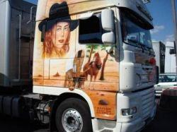 Аэрография на грузовиках (фото)