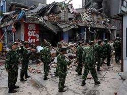 В результате землетрясения в провинции Сычуань треснула дамба