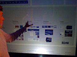 Компания Microsoft представила вертикальную сенсорную стену TouchWall (видео)