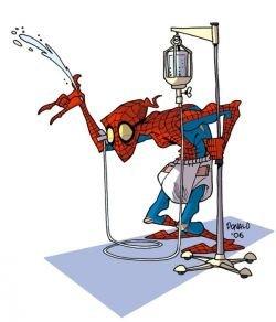 Супергерои комиксов на пенсии (фото)