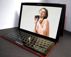 Samsung SDI — концепт ультратонкого ноутбука с OLED-дисплеем и сенсорной клавиатурой