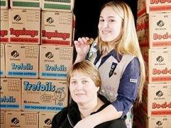 В США 15-летняя девочка-скаут за год продала 17 328 коробок печенья