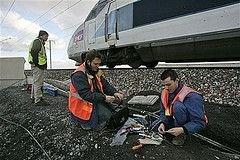 Во Франции забастовали железнодорожники