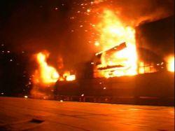На военном складе боеприпасов в ленинградской области начался пожар