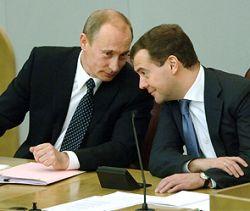 Тандем Путин-Медведев набирает популярность