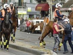 Футбольные фанаты и иммигранты устроили драку в пригороде Брюсселя
