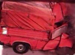 Не самый удачный краш-тест китайского грузовика