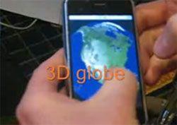 С помощью гироскопа iPhone Землю можно вертеть в руках