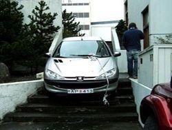 Женщина-водитель показала чудеса парковки