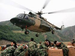 В провинции Сычуань разбился вертолет, перевозивший пострадавших от землетрясения