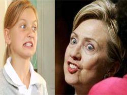 Ролик-пародия на Хилари Клинтон (Hillary Clinton) в детстве