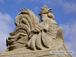 """Выставка фигур из песка в парке \""""Коломенское\"""""""