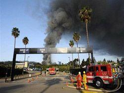 Очевидец снял на видео пожар в Голливуде
