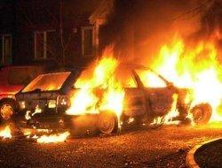 На Ярославском шоссе сгорела иномарка