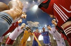 Евро-2008: гигантские футболисты на вокзале Цюриха