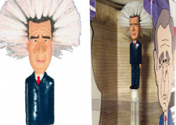 Буша и Клинтон увековечили в виде щеток для унитаза