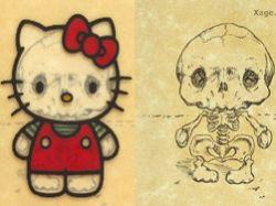 Как выглядят скелеты мультяшек?