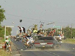Авария во время велогонок в Мексике