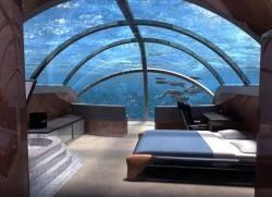 Названы лучшие подводные отели мира